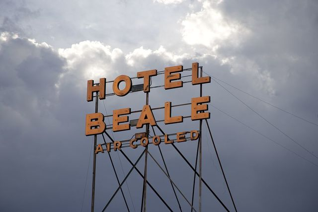 Hotel Beale sign, Kingman, Arizona