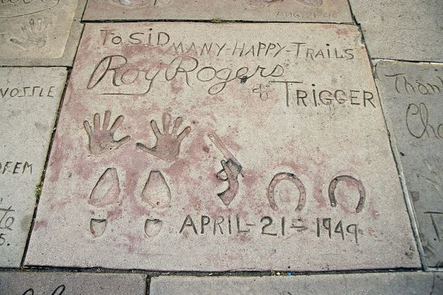 Roy Roger's hand and footprints, Grauman's Chinese Theatre, Los Angeles, California