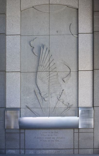 "Architectural art ""American Song"" at Ted Weiss Federal Building, New York, New York"