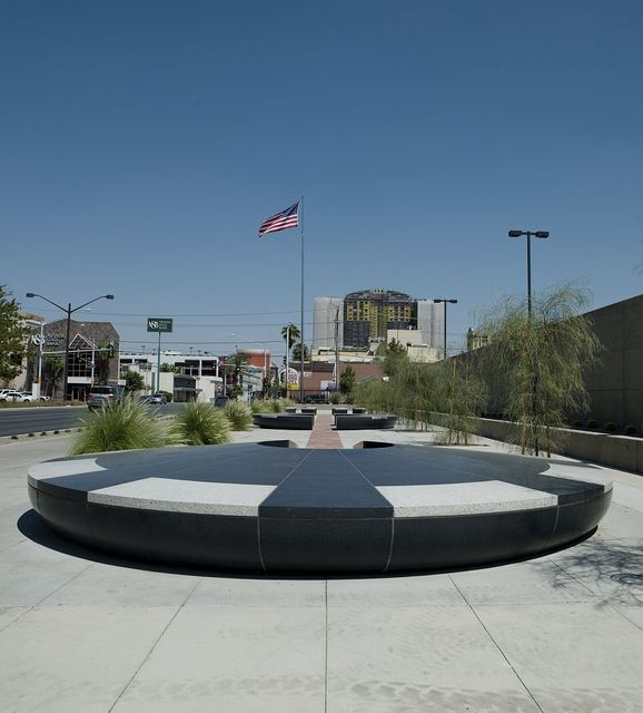 "Architectural art ""Vortex, Stream, and Confluence"" at Lloyd D. George U.S. Courthouse, Las Vegas, Nevada"