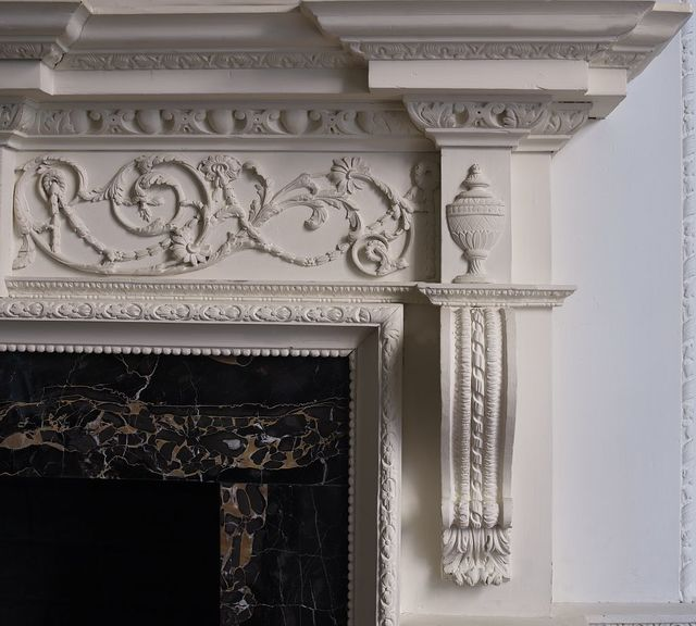 Blair-Lee dining room fireplace detail, Blair House, located across from the White House, Washington, D.C.