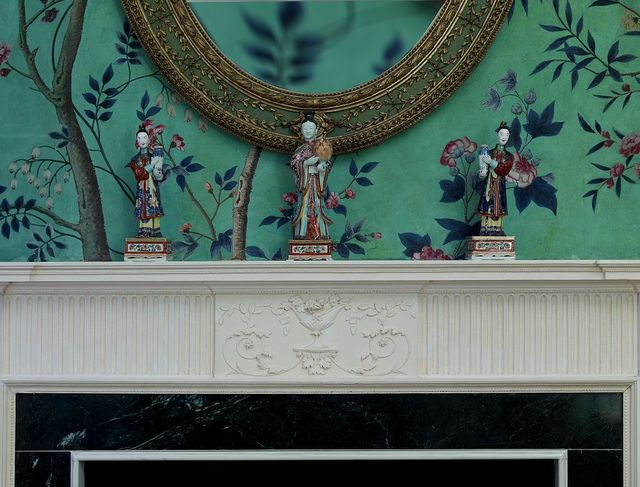 Dillon room fireplace detail, Blair House, located across from the White House, Washington, D.C.