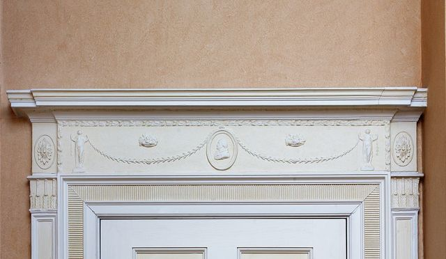 Dining room, doorframe detail, Blair House, located across from the White House, Washington, D.C.