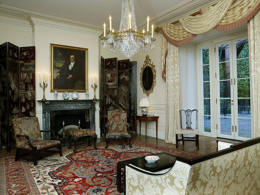 Double drawing room, Blair House, located across from the White House, Washington, D.C.