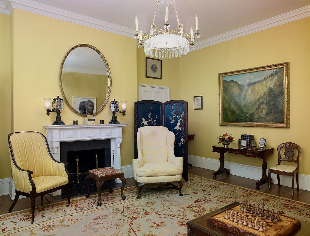Eisenhower sitting room, Blair House, located across from the White House, Washington, D.C.
