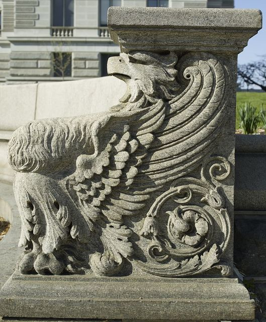 [Exterior view. Detail of eagle bench carving. Library of Congress Thomas Jefferson Building, Washington, D.C.]