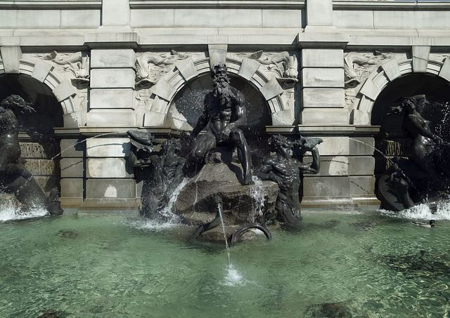 [Exterior view. Neptune statue in Neptune Fountain by Roland Hinton Perry. Library of Congress Thomas Jefferson Building, Washington, D.C.]