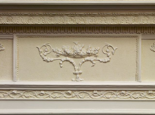 Fireplace detail, Blair House, located across from the White House, Washington, D.C.