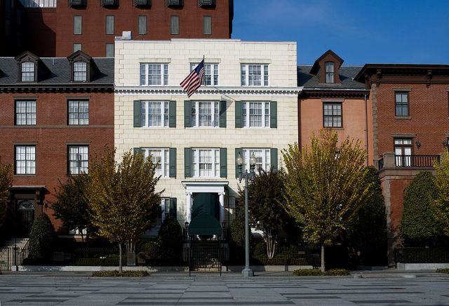 Front exterior, Blair House, located across from the White House, Washington, D.C.