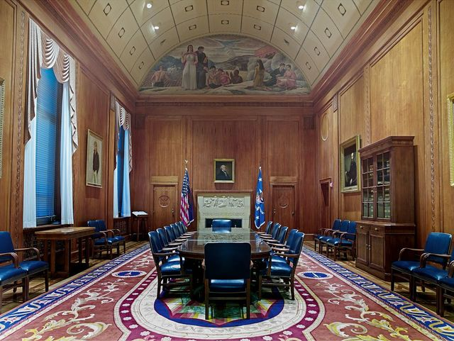 Full view, oil painting, Attorney General Conference Room, Department of Justice, Washington, D.C.