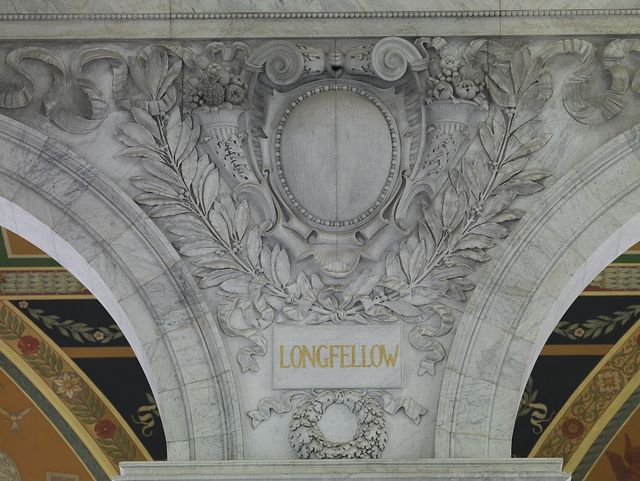 [Great Hall. Cartouche of Longfellow. Library of Congress Thomas Jefferson Building, Washington, D.C.]