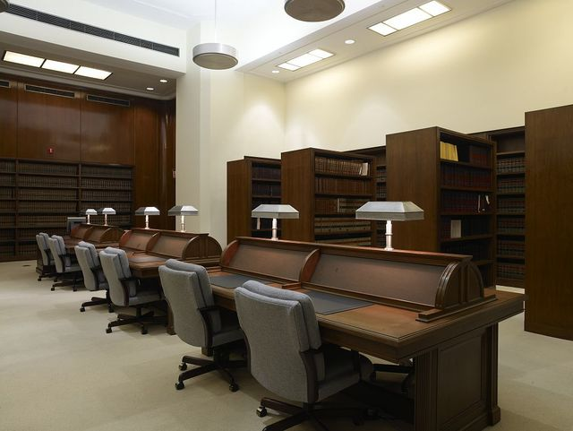 Law library, Robert N.C. Nix Federal Building, Philadelphia, Pennsylvania