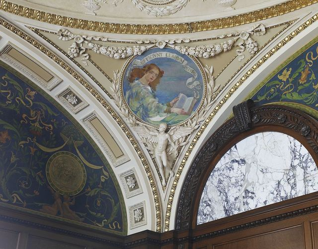 [Librarian's Room. One of four circular murals in pendentive of the Librarian's Room, by Edward J. Holslag. Library of Congress Thomas Jefferson Building, Washington, D.C.]