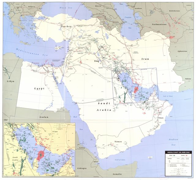 Middle East oil and gas.
