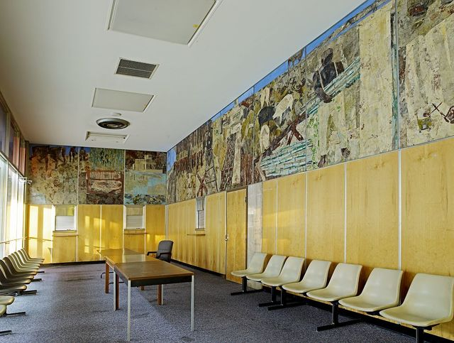 Oil paintings at the Golden-Collum Federal Building and U.S. Courthouse, Ocala, Florida
