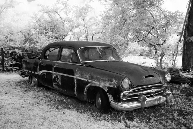 Old car way out in the North Carolina countryside