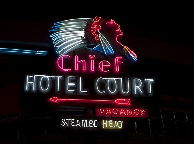 Old Motels and Historic Neon Art, Las Vegas, Nevada