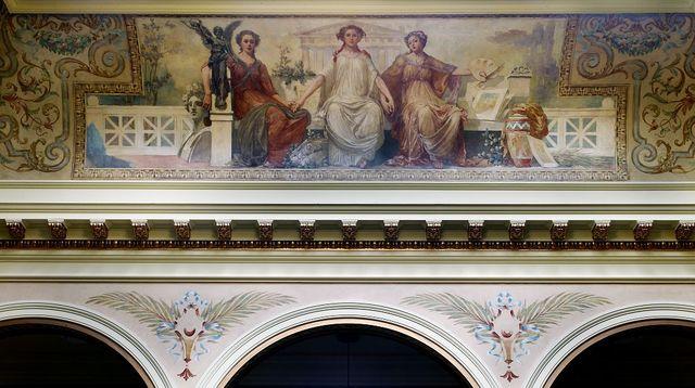 "Painting ""Art"" in east atrium ceiling of Federal Complex, Erie, Pennsylvania"