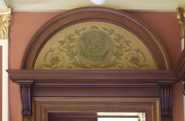 """Painting """"E Pluribus Unum"""" located on first floor of Federal Complex, Erie, Pennsylvania"""