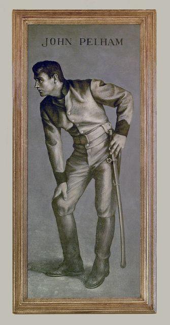 "Painting ""John Pelham"" at Court House Annex, Richmond, Virginia"