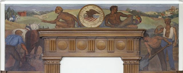 "Painting ""Justice with Peace and Prosperity"" at William J. Nealon Federal Building, Scranton, Pennsylvania"