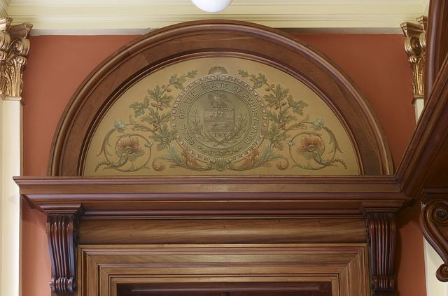 """Painting """"Seal of the State of Pennsylvania"""" located on first floor, Federal Complex, Erie, Pennsylvania"""