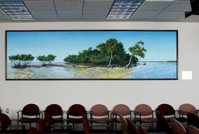 """Painting """"Turtle Key"""" in 9th floor jury assembly room, James L. King Federal Justice Building, Miami, Florida"""