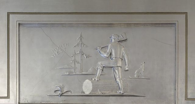 """Sculpture """"North West"""" located in fifth floor lobby, Department of Justice, Washington, D.C."""
