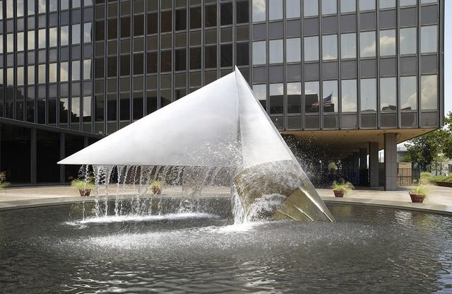 """Sculpture """"Voyage of Ulysses"""" located at front plaza exterior, James A. Byrne U.S. Courthouse, Philadelphia, Pennsylvania"""