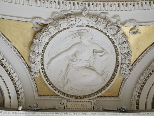 [Second Floor, Northwest Pavilion. Circular relief of Spring by Bela L. Pratt. Library of Congress Thomas Jefferson Building, Washington, D.C.]