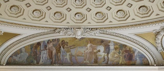 [Second Floor, Northwest Pavilion. Mural of Art in the Pavilion of Art and Science by William De Leftwich Dodge. Library of Congress Thomas Jefferson Building, Washington, D.C.]