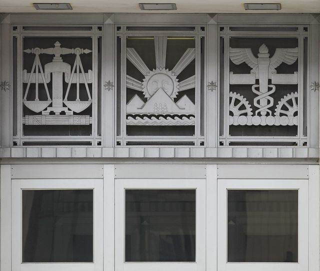 Transom detail, James T. Foley U.S. Post Office and Courthouse, Albany, New York