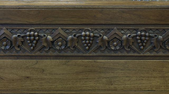Courtroom wood detail, United States Courthouse, Davenport, Iowa