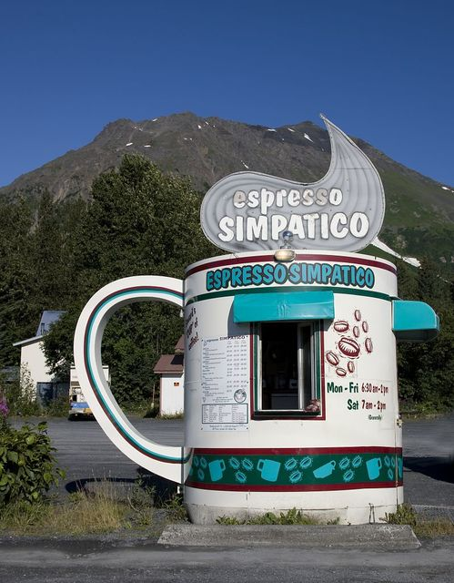 Espresso Simpatico Coffee Shop, Seward, Alaska