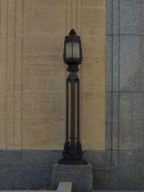 Exterior lamp, United States Courthouse, Davenport, Iowa