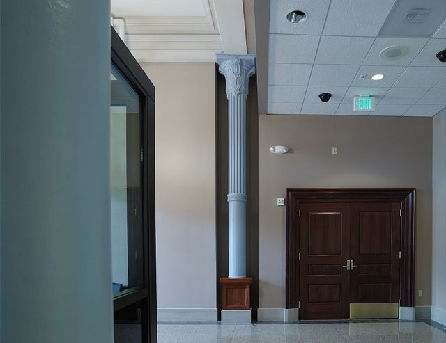 Interior back lobby, Federal Building and U.S. Courthouse, Port Huron, Michigan