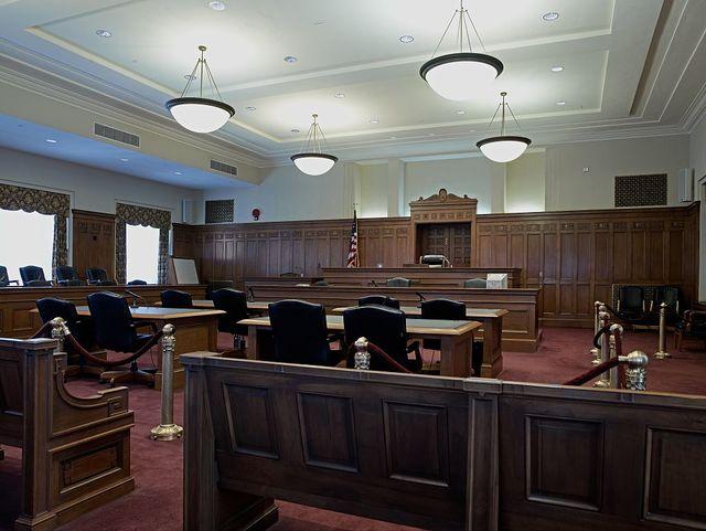Interior courtroom, Robert J. Nealon Federal Building and U.S. Courthouse, Scranton, Pennsylvania