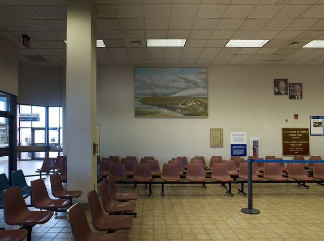 "Painting ""A Day in El Paso del Norte"" at R.C. White Federal Building, El Paso, Texas"