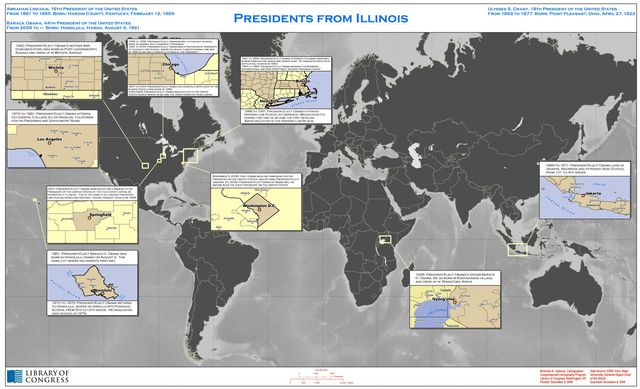 Presidents from Illinois : [world map].