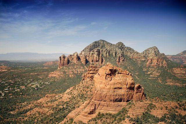 Aerial view from helicoptor, Sedona, Arizona