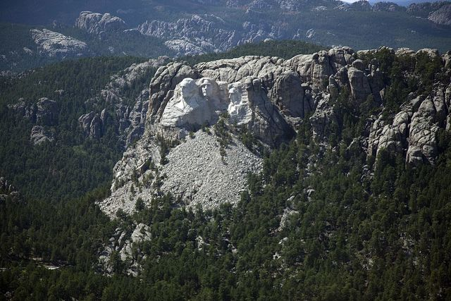 Aerial view of Mount Rushmore, South Dakota