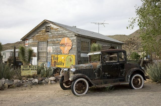 Antique Car, Hackberry General Store, Route 66, Hackberry, Arizona