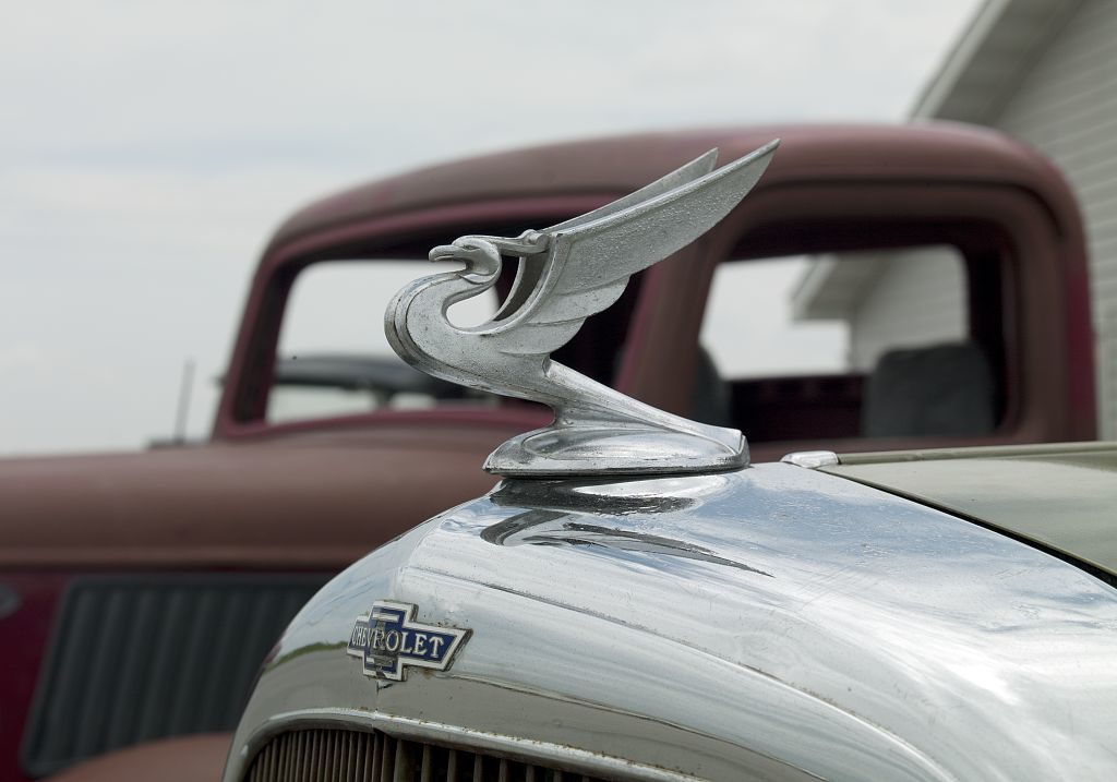 Detail of antique car, Country Classic Cars, Staunton, Illinois