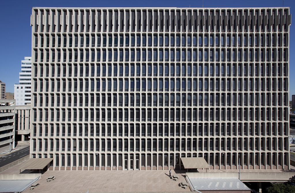 Exterior view, J.J. Pickle Federal Building located in downtown Austin, Texas