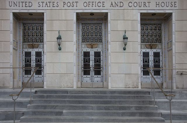 Front entrance, U.S. Post Office and Courthouse, Camden, New Jersey