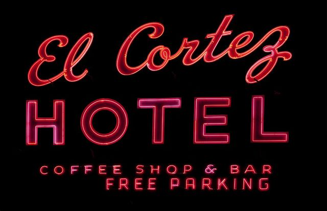 Historic El Cortez Hotel neon sign, Freemont Street, Las Vegas, Nevada