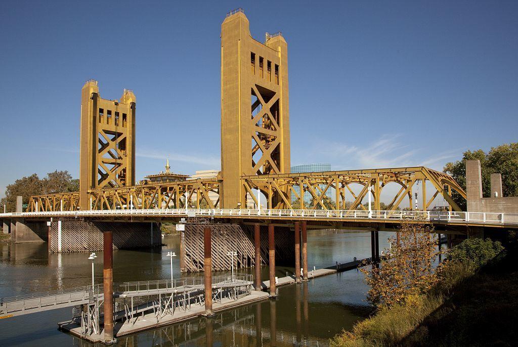Historic Tower Bridge, Sacramento, California