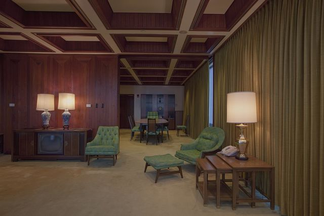 Interior view of the LBJ suite of offices, J.J. Pickle Federal Building located in downtown Austin, Texas