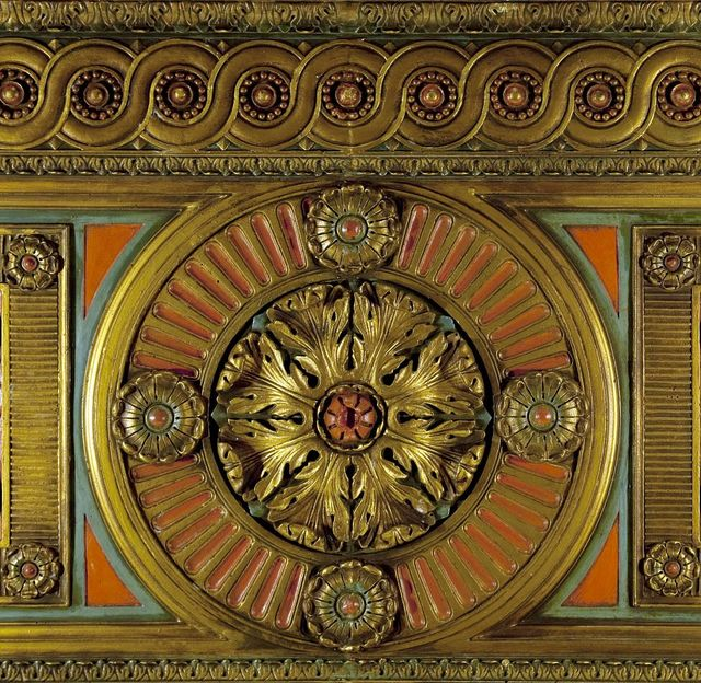 Lobby ceiling detail, National Archives, St. Louis, Missouri
