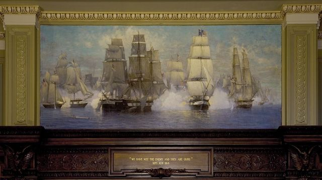 "Mural ""Battle of Lake Erie"" Howard M. Metzenbaum U.S. Courthouse, Cleveland, Ohio"